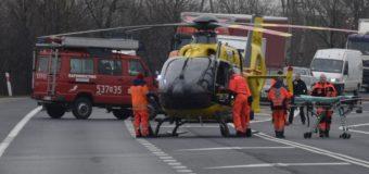 Wypadek na DK62. Zabezpieczenie lądowania LPR